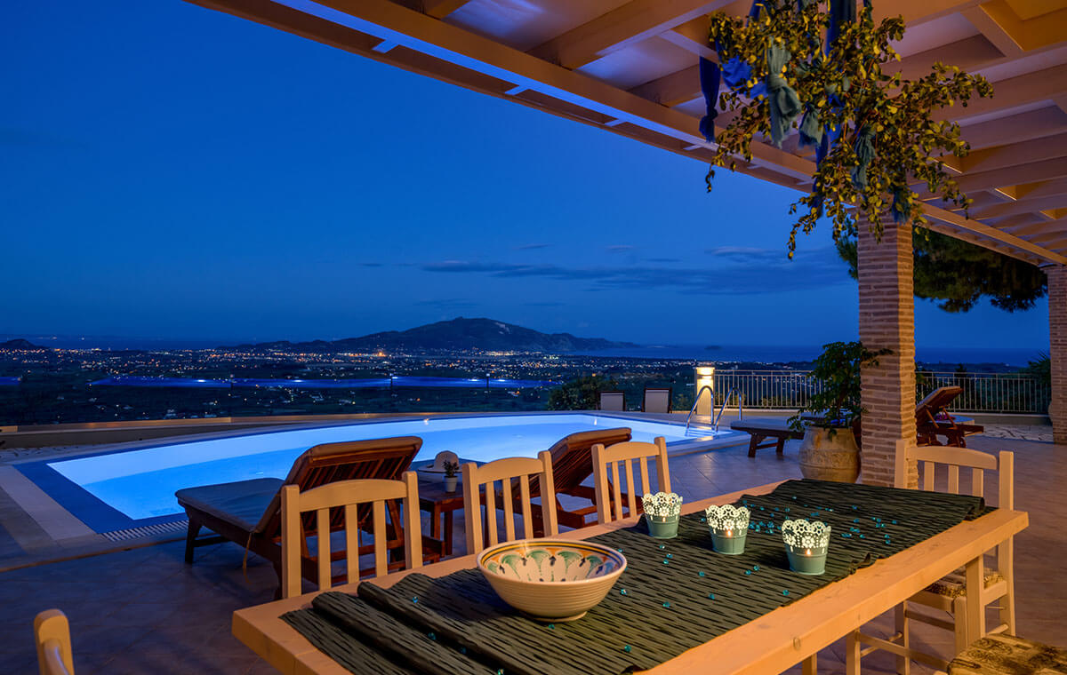 Villa Castelli Luxury private pool villas Zante Zakynthos Greece
